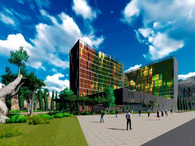 EDIFICIO DE OFICINAS, HOTEL Y CENTRO COMERCIAL. NINGBO. CHINA